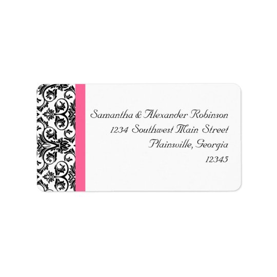 Victorian Fuchsia Pink and White Damask