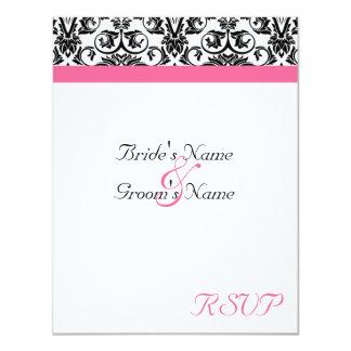 Victorian Fuschia Wedding Matching RSVP Card