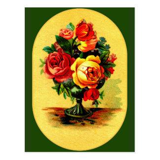 """Victorian Garden Bouquet"" Postcard"