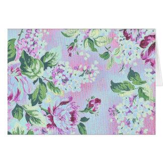 Victorian Garden Shabby Purple Card