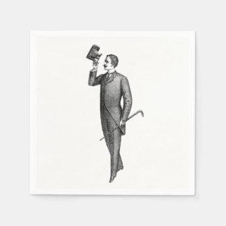 Victorian Gentleman Selfie Paper Napkin