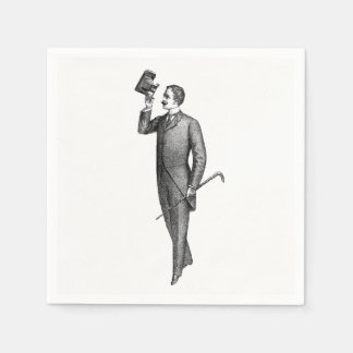 Victorian Gentleman Selfie Paper Napkins