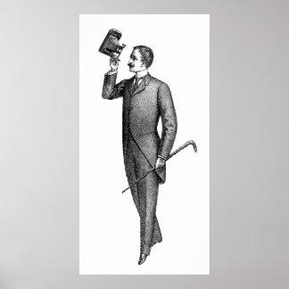 Victorian Gentleman Selfie Poster