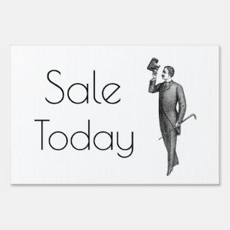 Victorian Gentleman Selfie Sale Today Sign