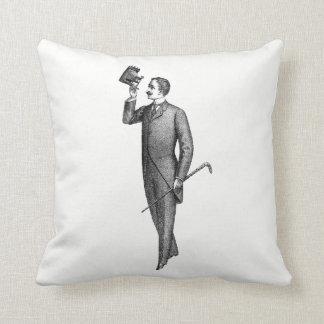 Victorian Gentleman Selfie Throw Pillow