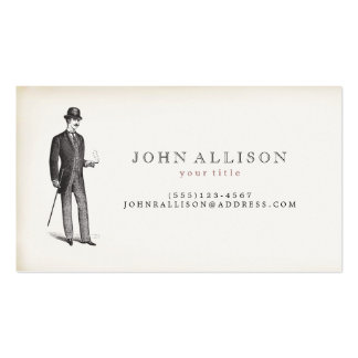 Victorian Gentleman's Vintage Calling Card 2 Double-Sided Standard Business Cards (Pack Of 100)