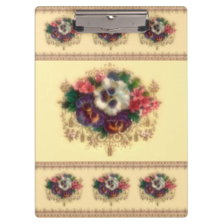 "Victorian ""Gilded Pansies"" Clipboard"