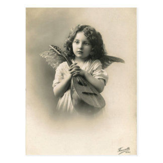 Victorian Girl Angel Postcard