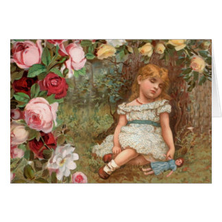 Victorian Girl in Dreamland Card