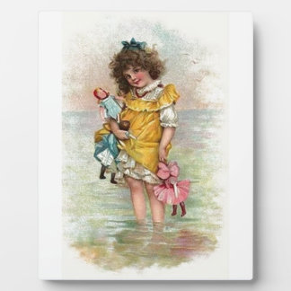 Victorian Girl Ocean Plaque