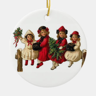 Victorian Girls Decorative Holiday Ornament