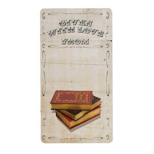 Victorian Given with Love Bookplate
