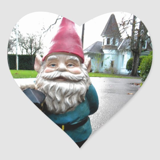 Victorian Gnome Heart Sticker