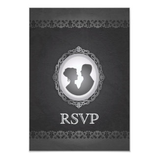 Victorian Gothic Cameo Wedding RSVP Card