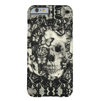 Victorian gothic lace skull pattern