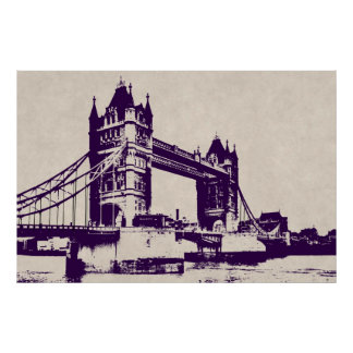 VICTORIAN GOTHIC TOWER BRIDGE - LONDON POSTER