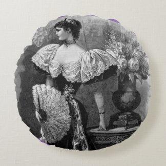Victorian Grace Round Pillow