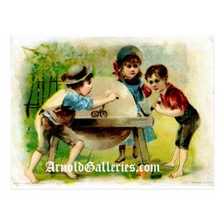 Victorian grinding wheel postcard