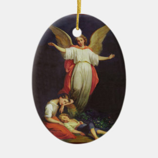 Victorian Guardian Angel Ceramic Ornament
