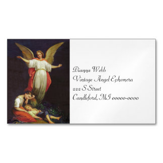 Victorian Guardian Angel Magnetic Business Card