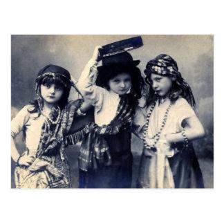 Victorian Gypsy Children Postcard