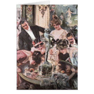 Victorian Halloween Party Greeting Card