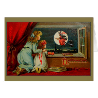 Victorian Halloween Witch Greeting Card