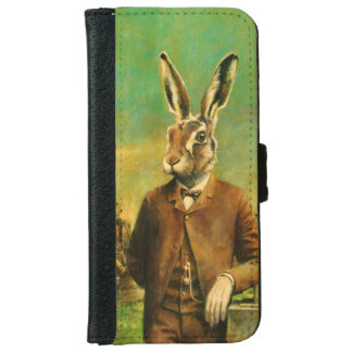 Victorian Hare iPhone 6s Leather Wallet