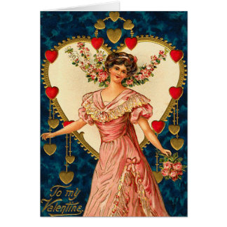 Victorian Heart s Desire Card