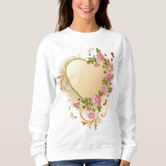 Victorian Heart White Sweatshirt