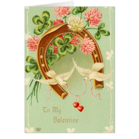 Victorian Horseshoe Valentine's Day Card