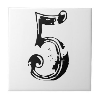 Victorian House Numbers Tile