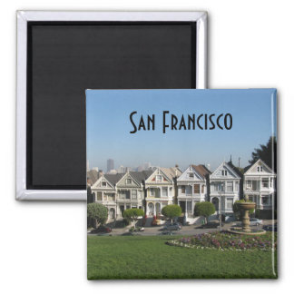Victorian Houses- San Francisco Square Magnet