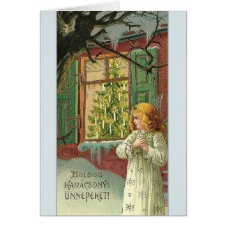 Victorian Hungarian Karácsonyi Christmas Card