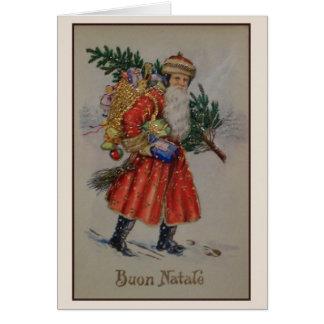 Victorian Italian Christmas Buon Natale Card
