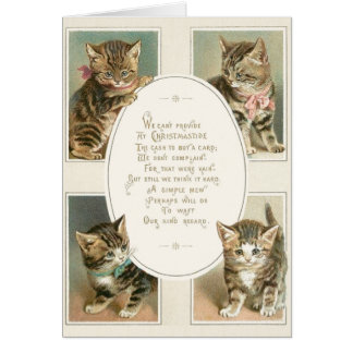 Victorian Kittens Christmas Greeting Card