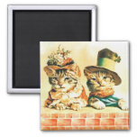 Victorian Kittens Magnet
