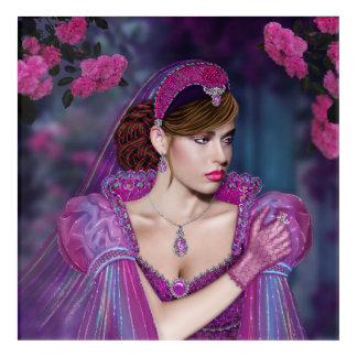 "Victorian Lady Acrylic Wall Art, 12"" xs 12 "" Acrylic Print"