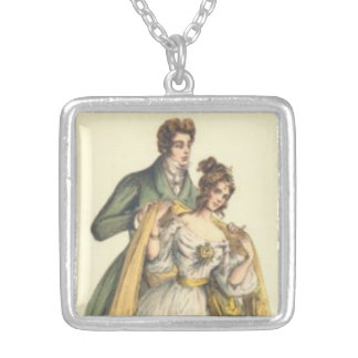 Victorian Lady / Couple Vintage Holiday Necklace
