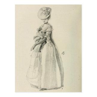 Victorian Lady Fashion Postcard