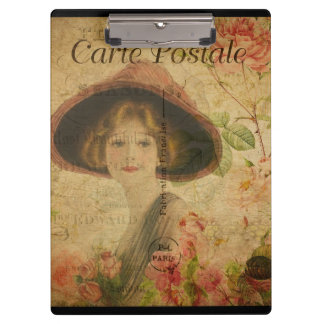 Victorian Lady In Paris Clipboard