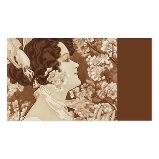 Victorian Lady in Springtime Business Card Templates