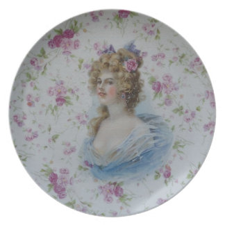 Victorian Lady Party Plates