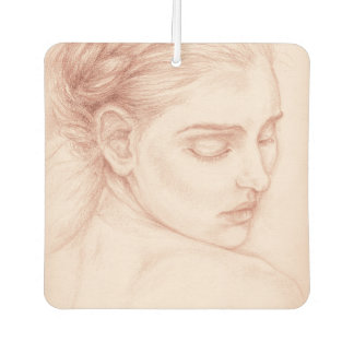 Victorian Lady Portrait Drawing Air Freshener