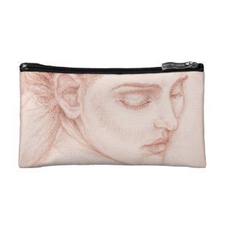 Victorian Lady Portrait Drawing Cosmetic Bag