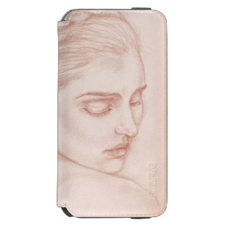 Victorian Lady Portrait Drawing Incipio Watson™ iPhone 6 Wallet Case