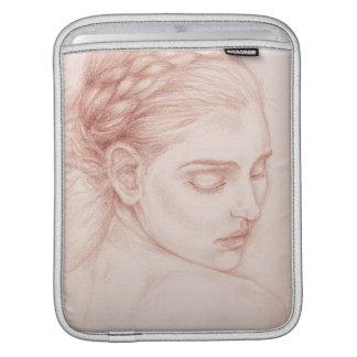 Victorian Lady Portrait Drawing iPad Sleeve