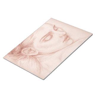 Victorian Lady Portrait Drawing Notepad