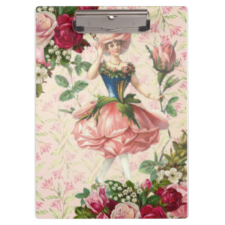 Victorian Lady Rose Clipboard