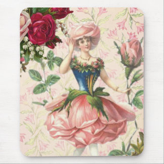 Victorian Lady Rose Mouse Pad